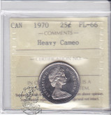 Canada: 1970 25 Cents ICCS PL66 Heavy Cameo Coin nr 1