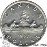 Canada: 1957 $1 AU50
