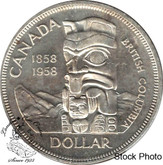 Canada: 1958 $1 AU50