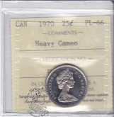 Canada: 1971 25 Cents ICCS PL66 Heavy Cameo Coin nr2