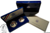 United States: 1986 Statue of Liberty Commemorative 2 Coin Proof Set