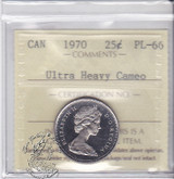 Canada: 1970 25 Cents ICCS PL66 Ultra Heavy Cameo Coin
