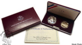 United States: 1992 Olympic 2 Coin Proof Set