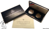 United States: 1991 - 1995 World War II 2 Proof Coin Set