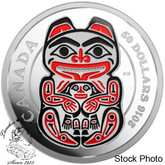 Canada: 2016 $50 Mythical Realms of the Haida Series - The Bear Silver Coin