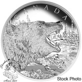 Canada: 2016 $125 Roaring Grizzly Bear Silver Coin