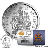 Canada: 2016 50 Cent Circulation Coin Roll Special Wrap (25 Coins)