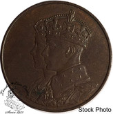 Canada: 1939 George V Royal Visit Bronze Medallion - Small Size