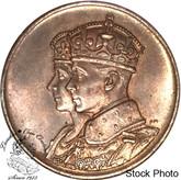 Canada: 1939 George V Royal Visit Bronze Medallion - Large Size