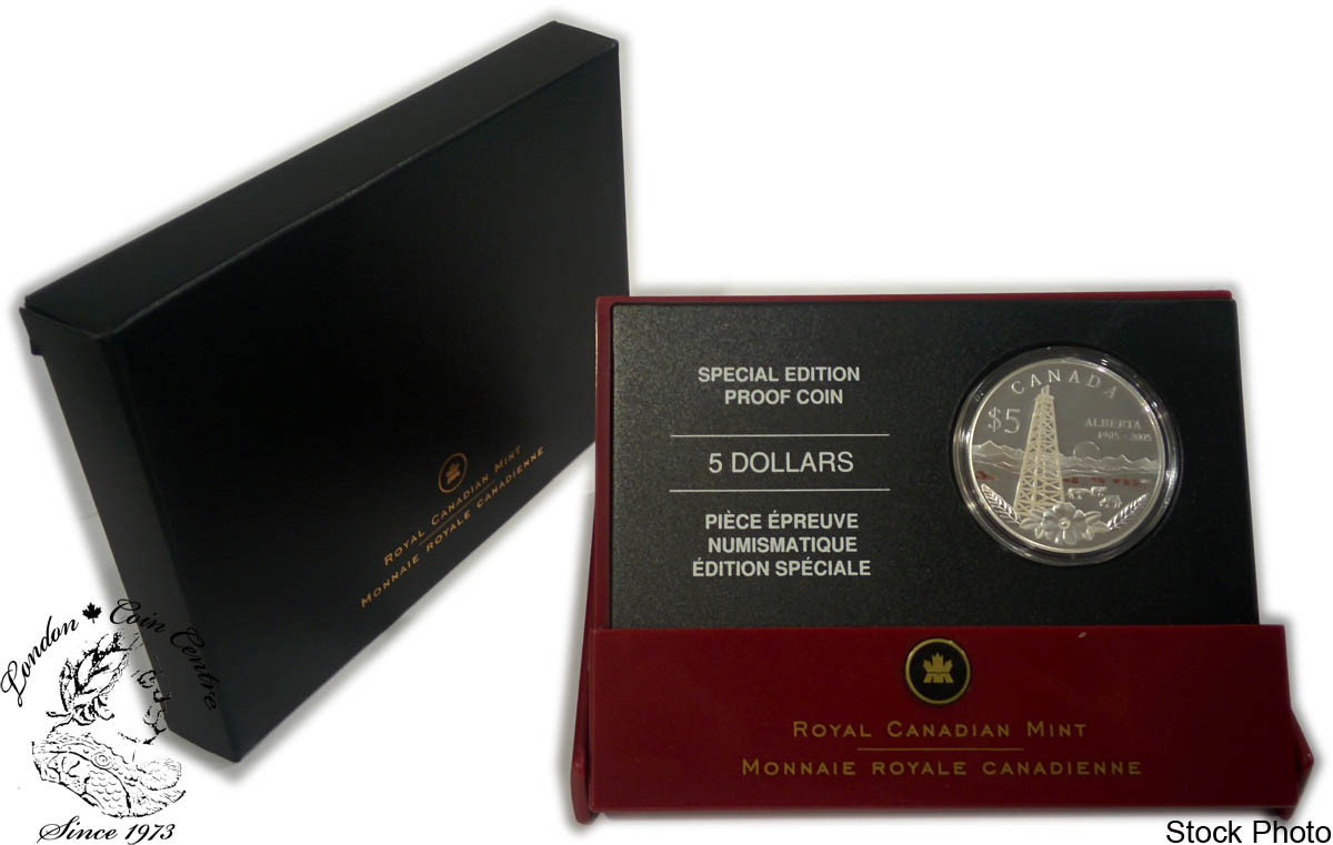 Proof 2005 Canada $5 Special Ed Alberta/'s Centennial
