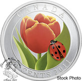 Canada: 2013 25 Cents Tulip with Ladybug