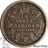 Canada: 1998 10 Cents Commemorative 1908 - 1998 Antique Coin