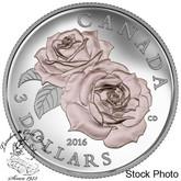 Canada: 2016 $3 Queen Elizabeth Rose Silver Coin