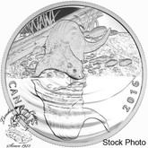 Canada: 2016 $10 Reflections of Wildlife - The Otter Silver Coin
