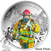 Canada: 2016 $15 National Heroes - Firefighters Silver Coin