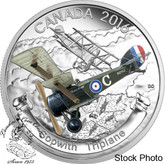 Canada: 2016 $20 Aircraft of the First World War Series: The Sopwith Triplane Silver Coin