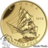 Canada: 2016 $200 Tall Ships Legacy: Marco Polo Gold Coin