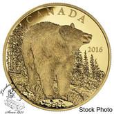 Canada: 2016 $350 The Bold Black Bear Gold Coin