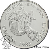 Canada: 1983 $1 World University Games BU Silver Dollar Coin