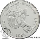 Canada: 1983 $1 World University Games BU Silver Dollar Coin