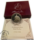 United States: 1982 George Washington Commemorative Proof Silver Half Dollar Coin