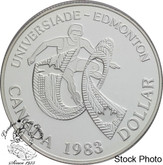Canada: 1983 $1 World University Games Proof Silver Dollar Coin