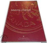 Canada: 2003 1 Cent Gold Plated Penny with Royal Canadian Mint Annual Report ENGLISH VERSION