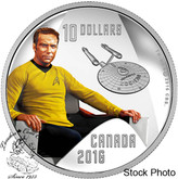 Canada: 2016 $10 Star Trek Crew Captain Kirk 1/2 Ounce Silver Coin