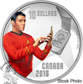 Canada: 2016 $10 Star Trek Crew Scotty 1/2 Ounce Silver Coin