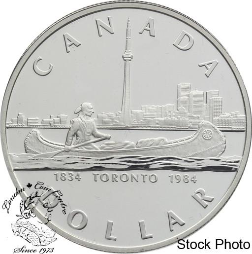 Canada 1984 1 Toronto Sesquicentennial Proof Silver Dollar Coin London Coin Centre Inc