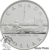 Canada: 1984 $1 Toronto Sesquicentennial Proof Silver Dollar Coin