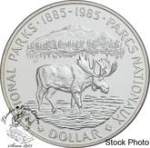 Canada: 1985 $1 National Parks Centennial BU Silver Dollar Coin