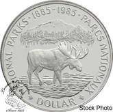 Canada: 1985 $1 National Parks Centennial Proof Silver Dollar Coin