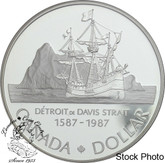 Canada: 1987 $1 John Davis Proof Silver Dollar Coin