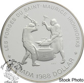 Canada: 1988 $1 Saint-Maurice Ironworks Proof Silver Dollar Coin