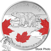 Canada: 2016 $25 for $25 True North Polar Bear Silver Coin