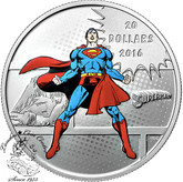 Canada: 2016 $20 Superman Man Of Steel Silver Coin - DC Comics™ Orignals