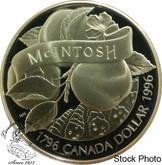 Canada: 1996 $1 200th Anniversary John McIntosh Proof Silver Dollar Coin