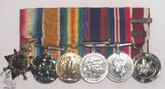 Group of Six: WWII Medals - PTE. E.A. CLYMER 18th Can. Infantry.