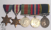 Group of Five: WWII Medals - CPL. J. HERVE