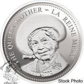 Canada: 2002 $1 Queen Elizabeth The Queen Mother Proof Silver Dollar Coin