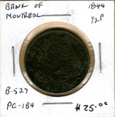 Bank of Montreal: 1844 Half Penny PC-1B4