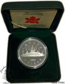 Canada: 2003 $1 Uncrowned Portrait of Queen Elizabeth II Proof Silver Dollar Coin
