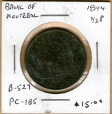 Bank of Montreal: 1844 Half Penny PC-1B5 #5f
