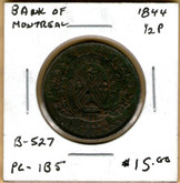 Bank of Montreal: 1844 Half Penny PC-1B5 #5h