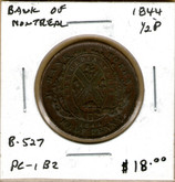 Bank of Montreal: 1844 Half Penny #6a