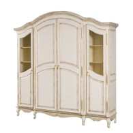 Grand Three Piece Breakfront Finish: Versailles Creme Door Option: Brass Wire Mesh Upgraded Knobs: Brass Tassel I