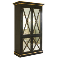 Regency Armoire Finish: Black Trim Out: Gold Gilding Upgraded Knobs: Brass Knobs V