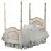 Cherubini Bed Bed Size in Photo: Twin Standard Caning Standard Appliqued Moulding Finish: Versailles Crème
