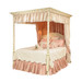 Courtney Bed Bed Size: Full Finish: Linen Hand Painted Motif: Floral Vines